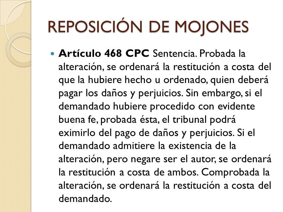 SUSPENSIÓN DE OBRA NUEVA Artículo 470 CPC Suspensión y estado de los trabajos.