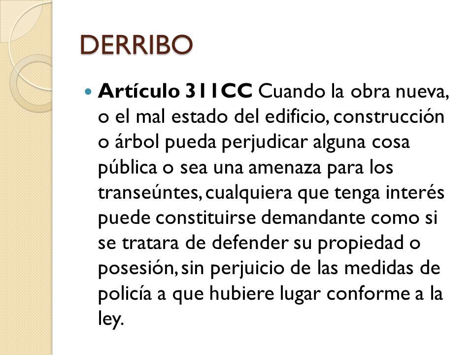 DERRIBO Artículo 476 CPC Sentencia.