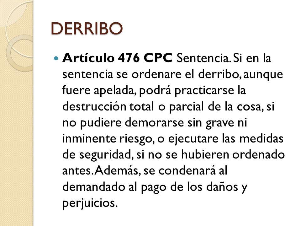 PROCEDIMIENTO Artículo 457 CPC Naturaleza del proceso interdictal.