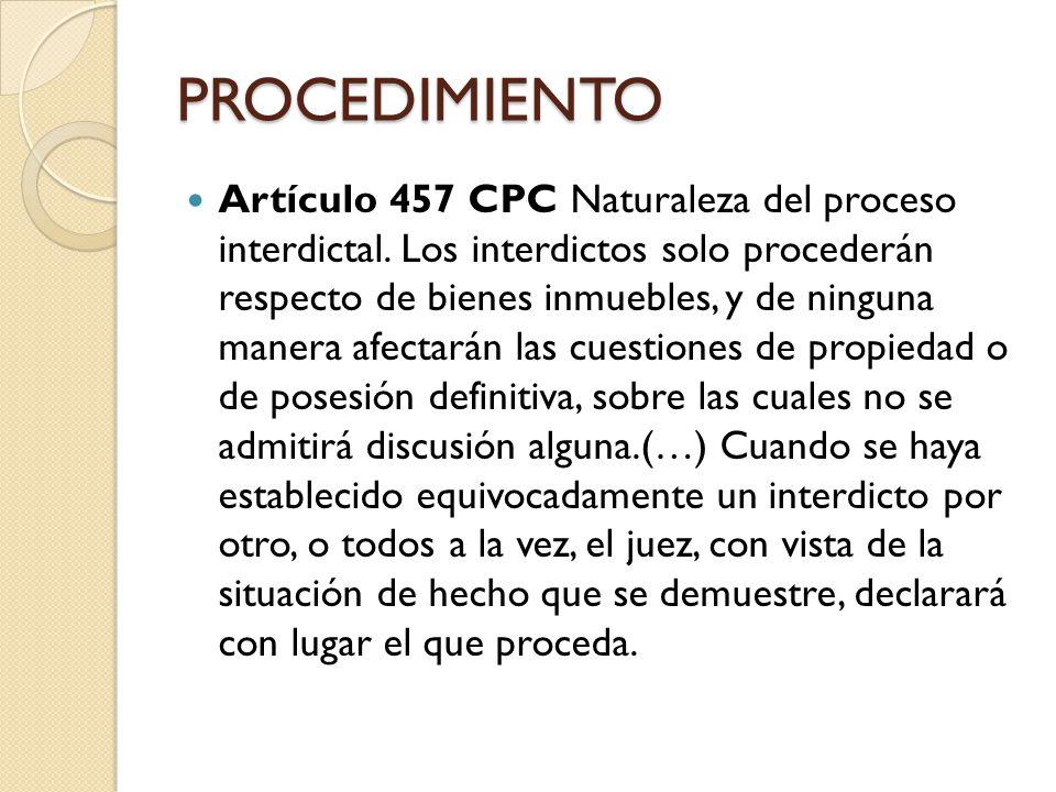 PROCEDIMIENTO Artículo 458 CPC Caducidad.