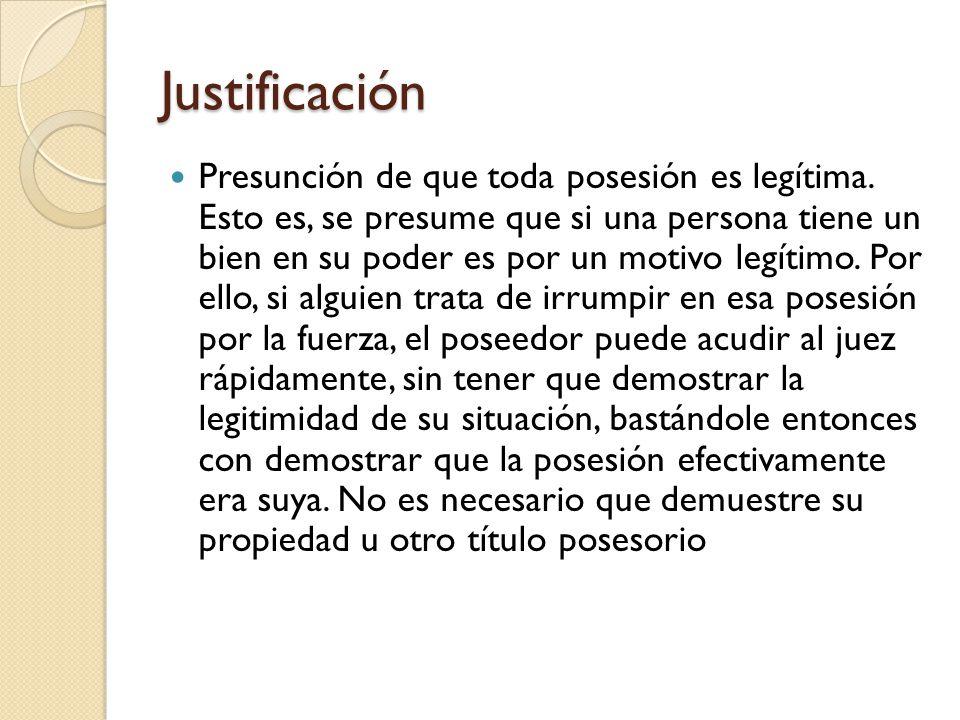 Justificación Artículo 305 CC.