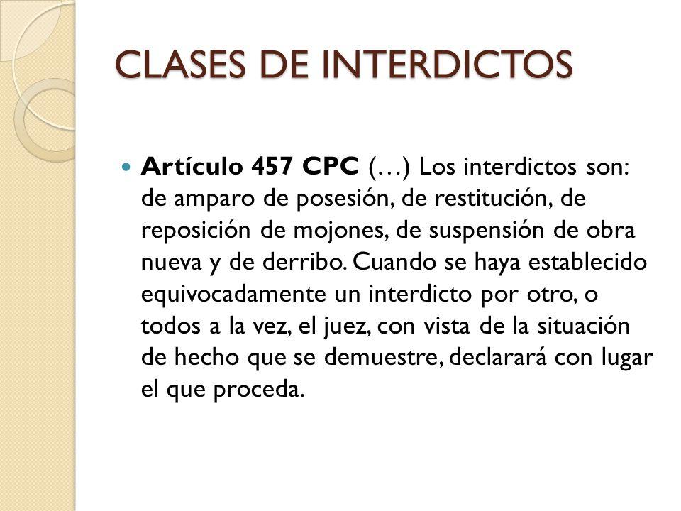 AMPARO DE POSESIÓN Artículo 461CPC.Legitimación.