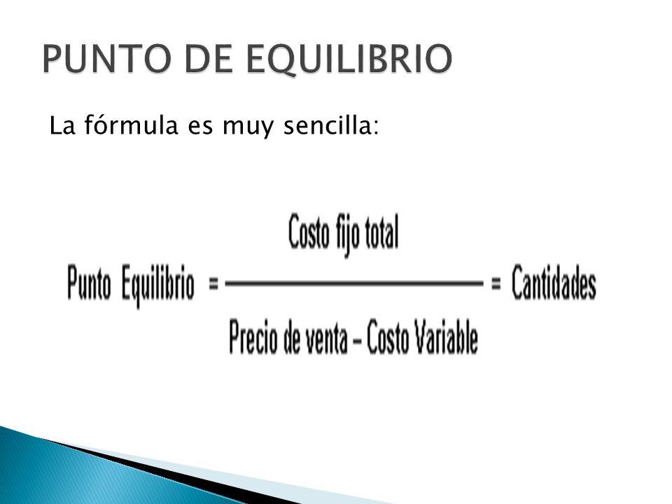 La fórmula es muy sencilla: