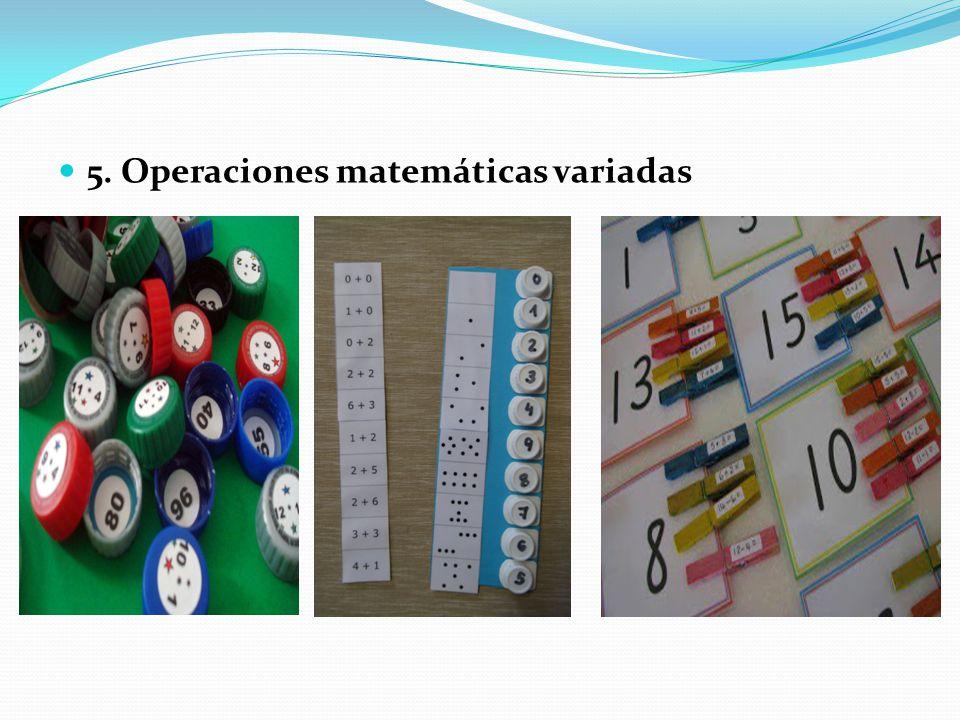 5. Operaciones matemáticas variadas
