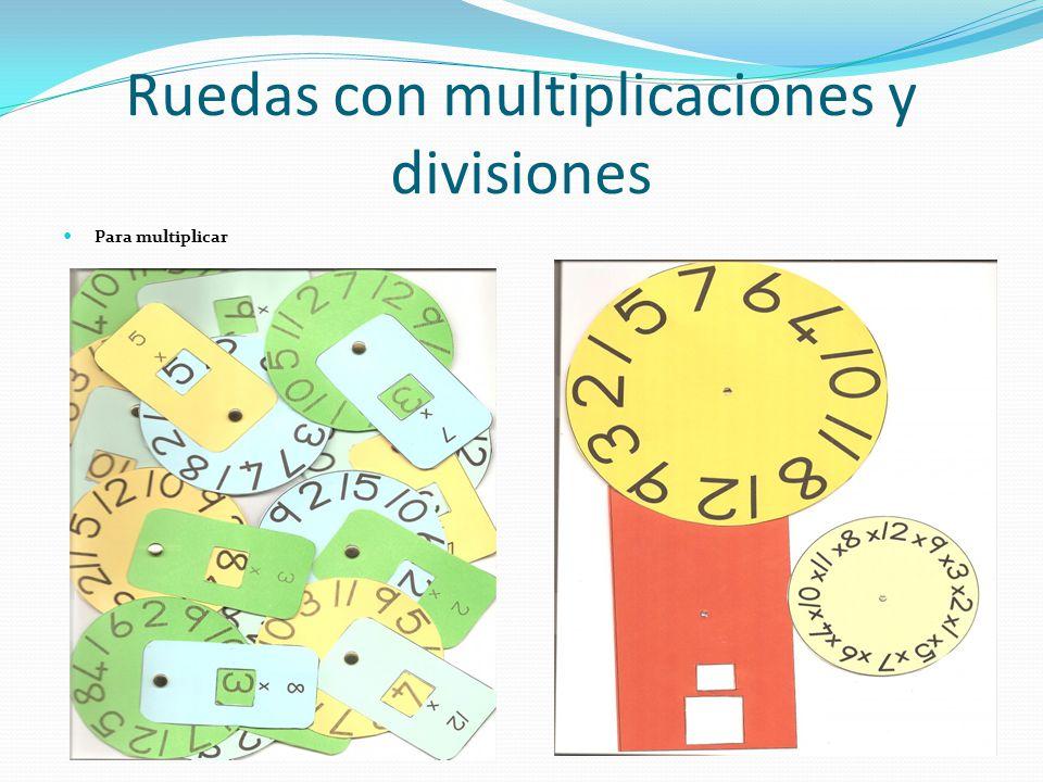 Ruedas con multiplicaciones y divisiones Para multiplicar