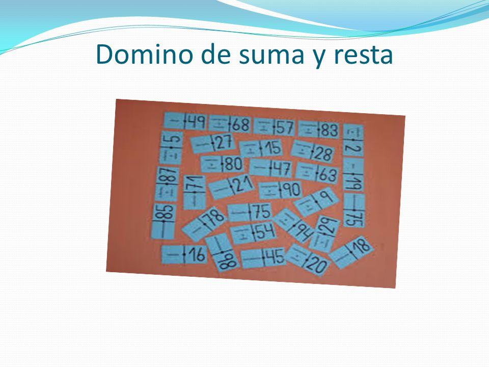 Domino de suma resta o multiplicación Domino de suma y resta