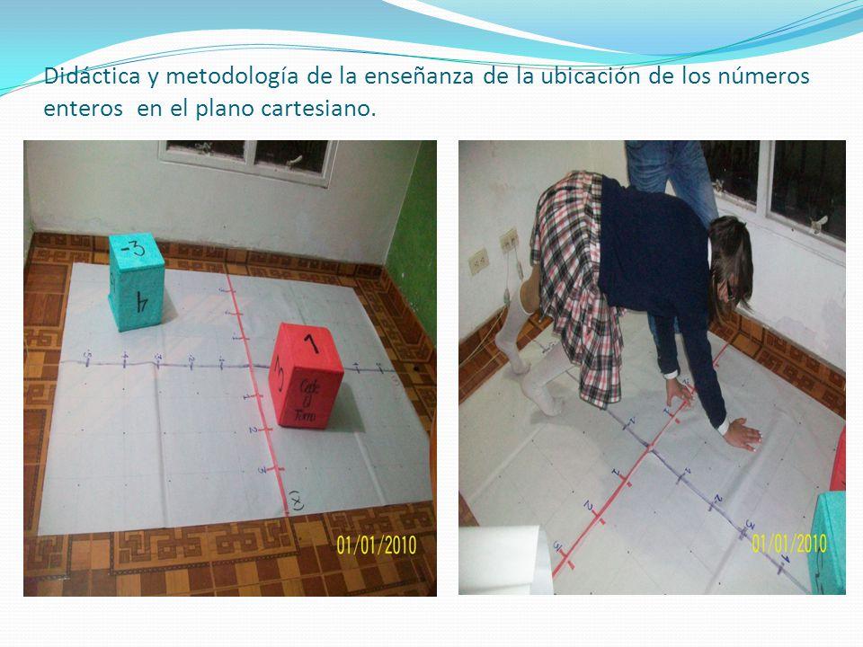 Didáctica y metodología de la enseñanza de la ubicación de los números enteros en el plano cartesiano.