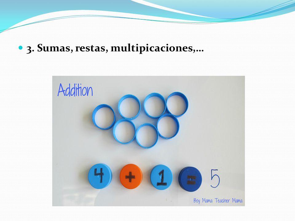 3. Sumas, restas, multipicaciones,…