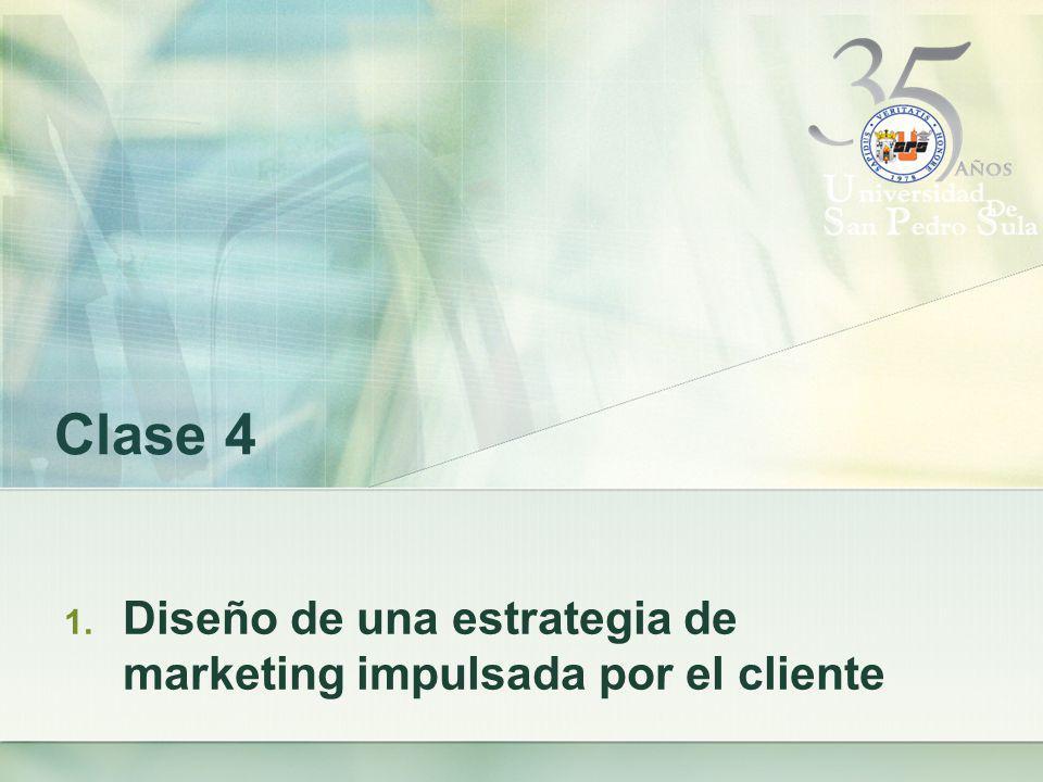 Diseño de una estrategia de marketing impulsada por el cliente.
