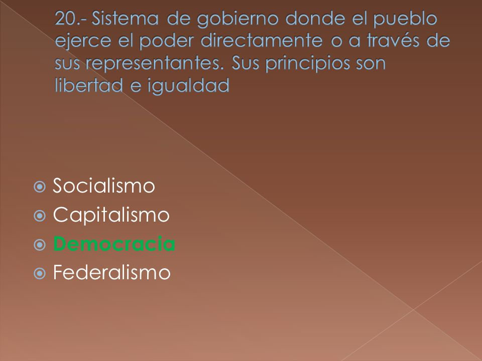 Socialismo Capitalismo Democracia Federalismo