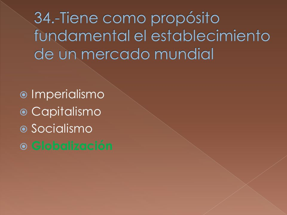 Imperialismo Capitalismo Socialismo Globalización
