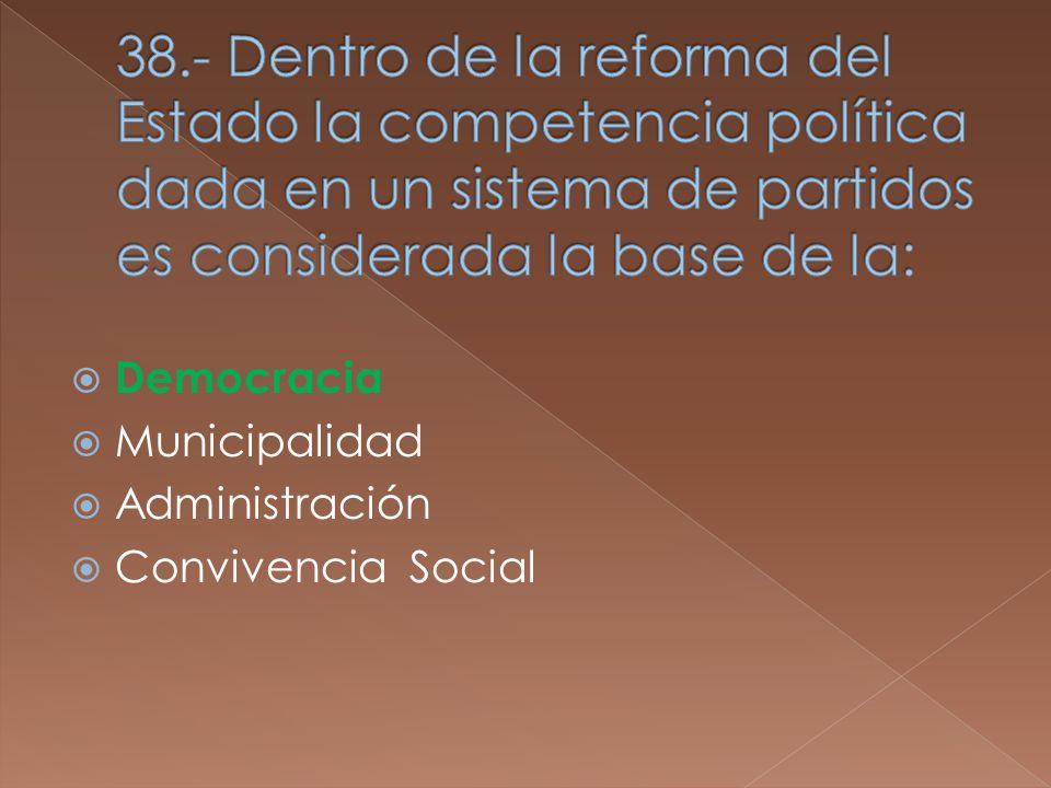 Democracia Municipalidad Administración Convivencia Social
