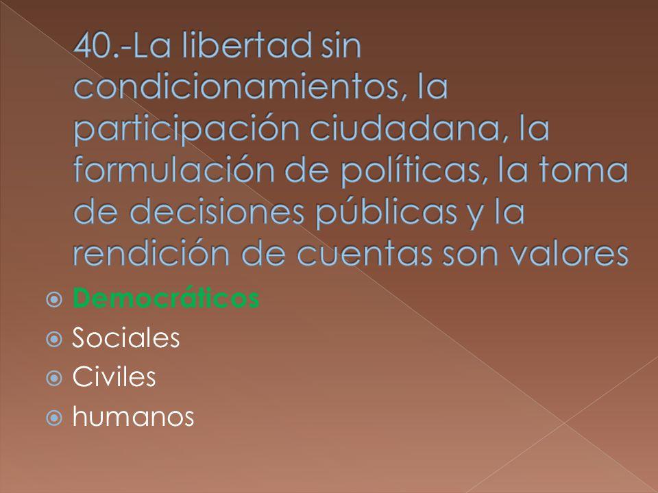 Democráticos Sociales Civiles humanos