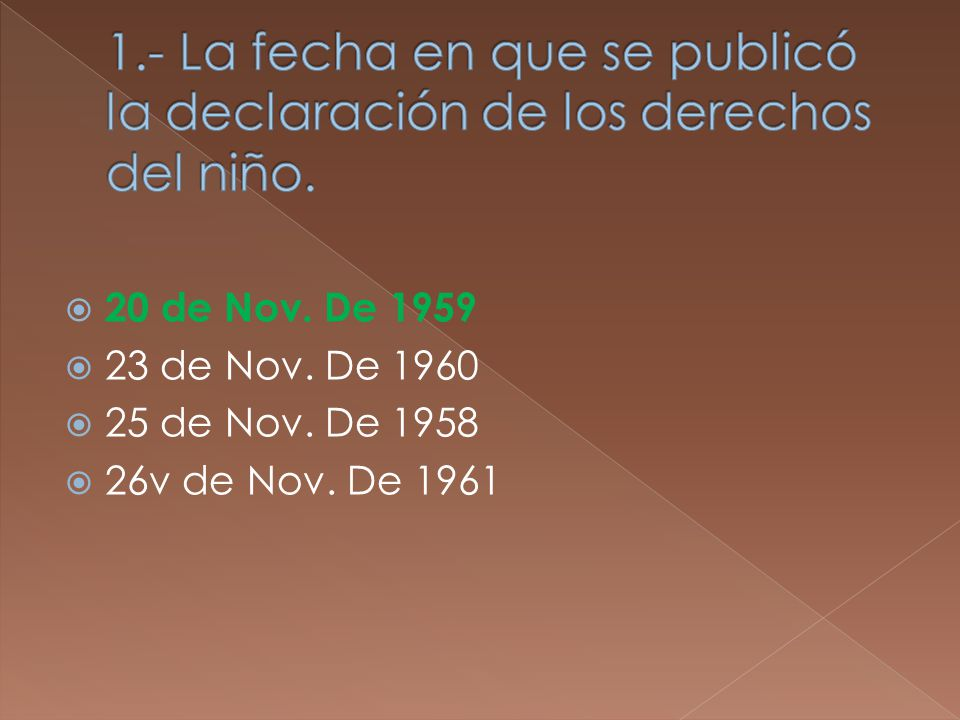 20 de Nov. De 1959 23 de Nov. De 1960 25 de Nov. De 1958 26v de Nov. De 1961