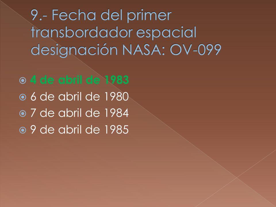 4 de abril de 1983 6 de abril de 1980 7 de abril de 1984 9 de abril de 1985