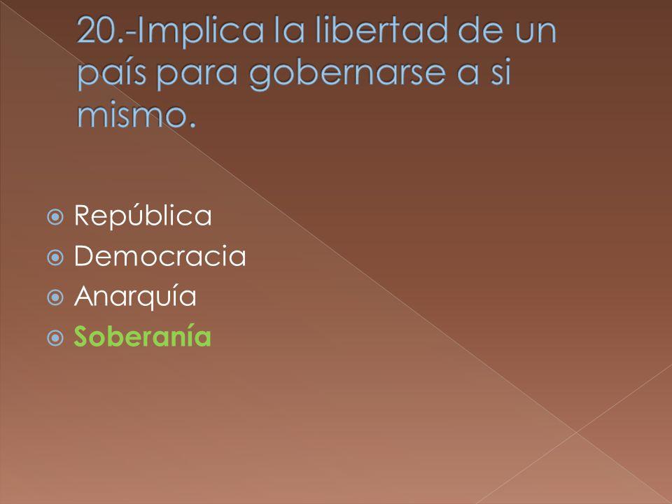 República Democracia Anarquía Soberanía