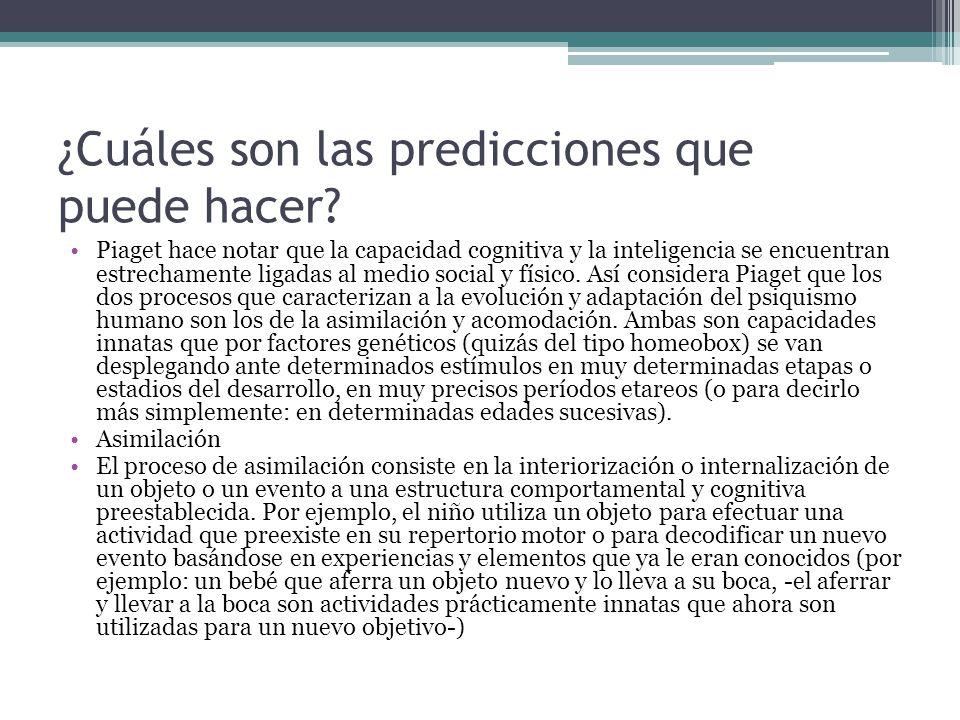 ¿Cuáles son las predicciones que puede hacer.
