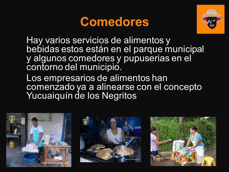 Comedores Hay varios servicios de alimentos y bebidas estos están en el parque municipal y algunos comedores y pupuserias en el contorno del municipio