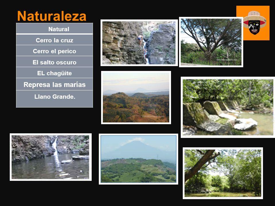 Natural Cerro la cruz Cerro el perico El salto oscuro EL chagüite Represa las marías Llano Grande. Naturaleza