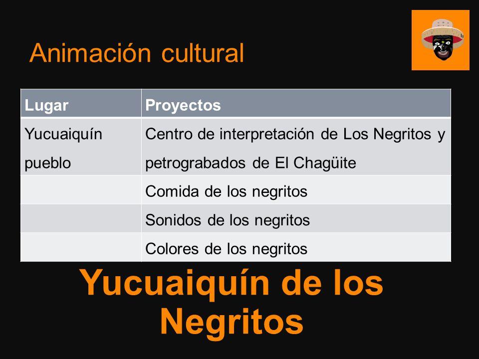 Animación cultural LugarProyectos Yucuaiquín pueblo Centro de interpretación de Los Negritos y petrograbados de El Chagüite Comida de los negritos Son