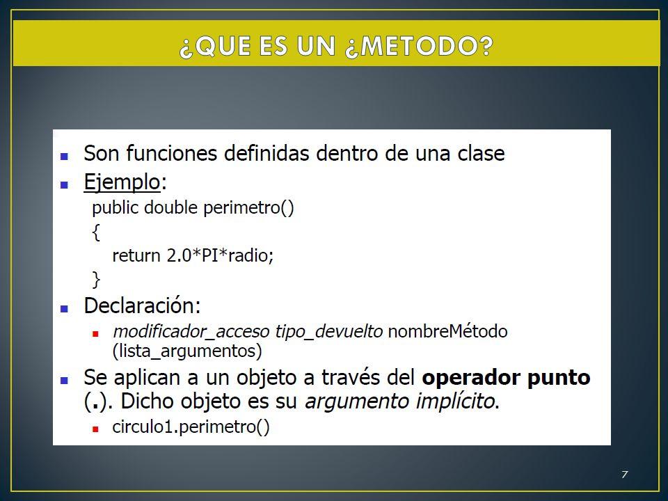 El constructor de una clase es un método estándar para inicializar los objetos de esa clase.