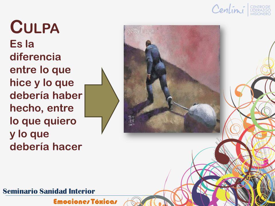 C ULPA Es la diferencia entre lo que hice y lo que debería haber hecho, entre lo que quiero y lo que debería hacer