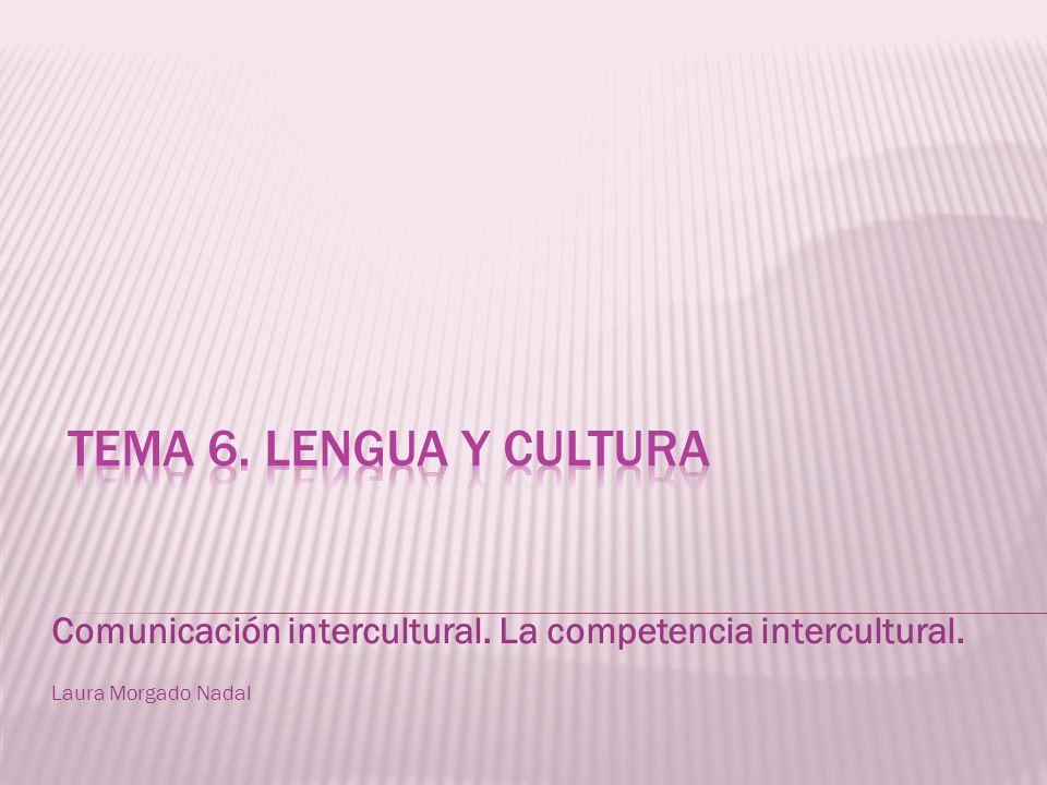 Comunicación intercultural. La competencia intercultural. Laura Morgado Nadal