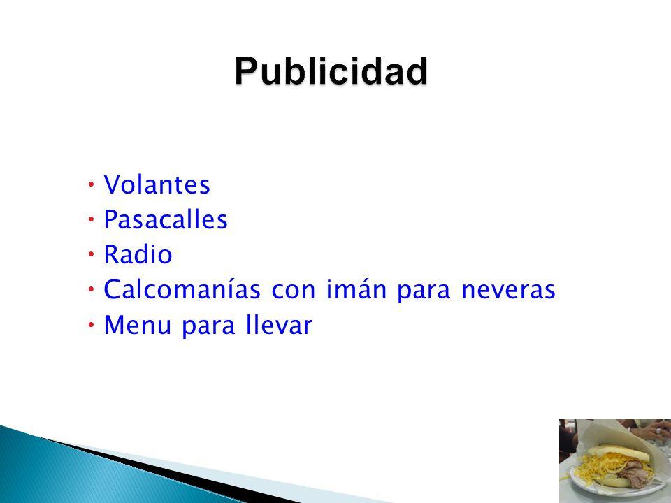 Volantes Pasacalles Radio Calcomanías con imán para neveras Menu para llevar