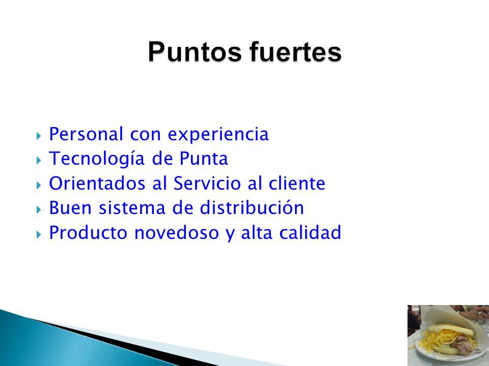 Personal con experiencia Tecnología de Punta Orientados al Servicio al cliente Buen sistema de distribución Producto novedoso y alta calidad