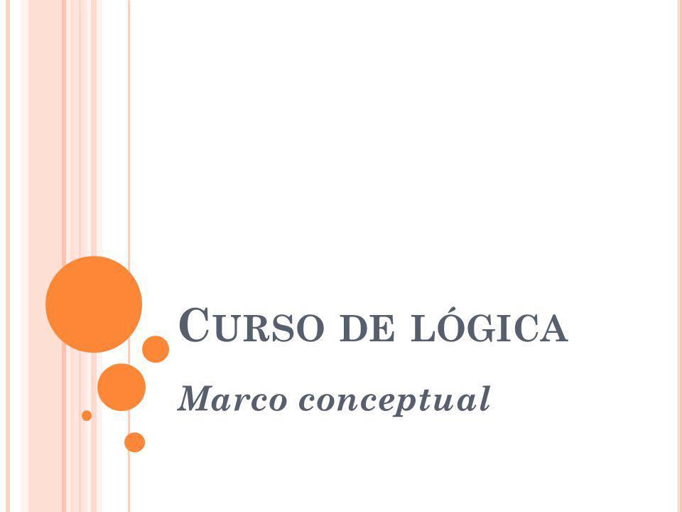 C URSO DE LÓGICA Marco conceptual