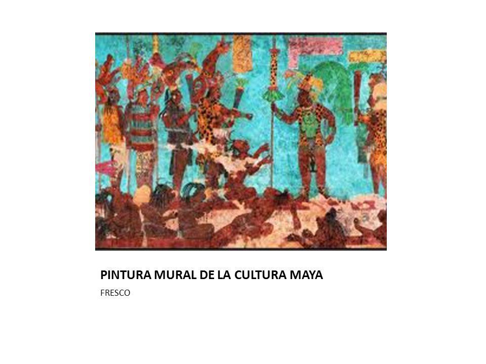 PINTURA MURAL DE LA CULTURA MAYA FRESCO