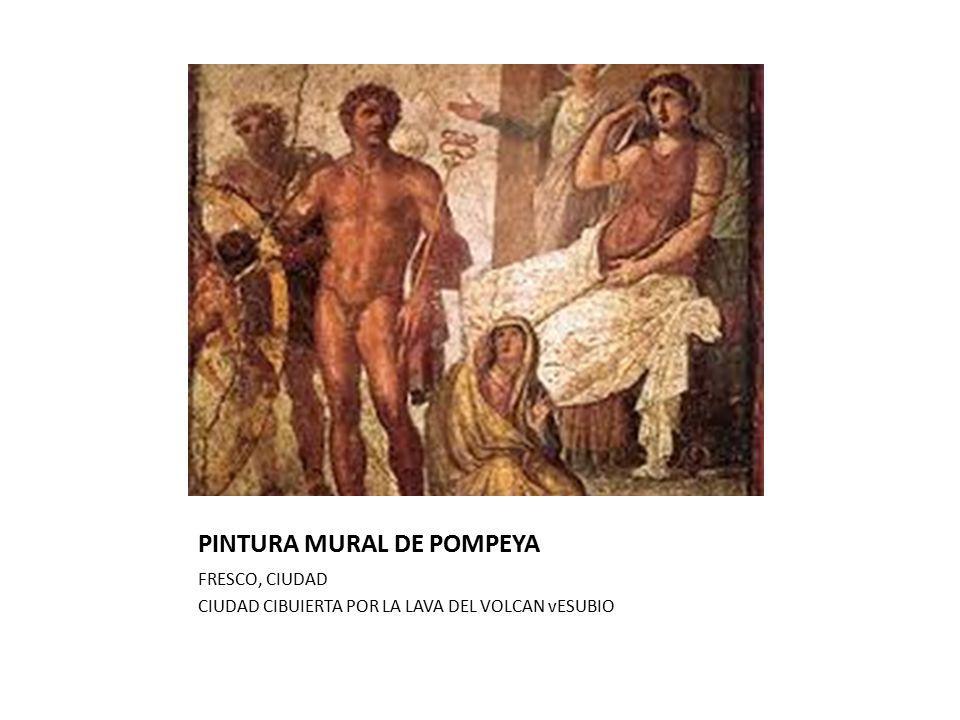 PINTURA MURAL DE POMPEYA FRESCO, CIUDAD CIUDAD CIBUIERTA POR LA LAVA DEL VOLCAN vESUBIO