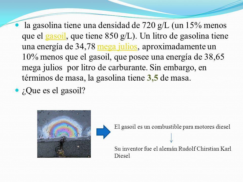 Uno de los derivados mas importantes del petróleo es sin duda la gasolina. Que es utilizada como combustible en todo el mundo y de la cual depende la