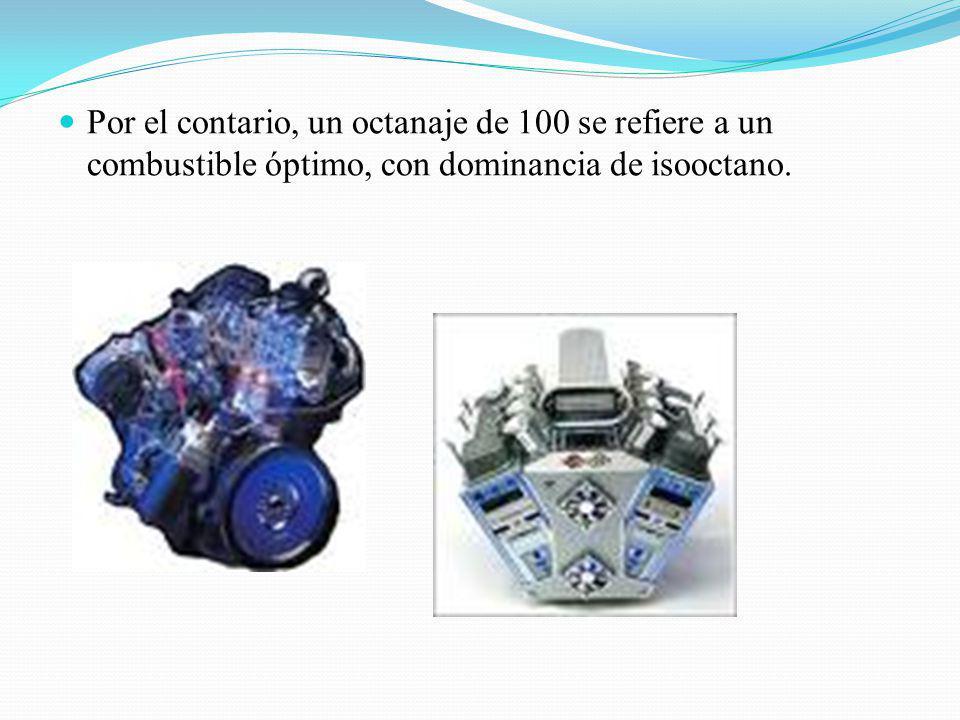 Se ha observado que los hidrocarburos ramificados no presentan este problema, por lo que la gasolina con propiedades detonantes optimas está compuesta