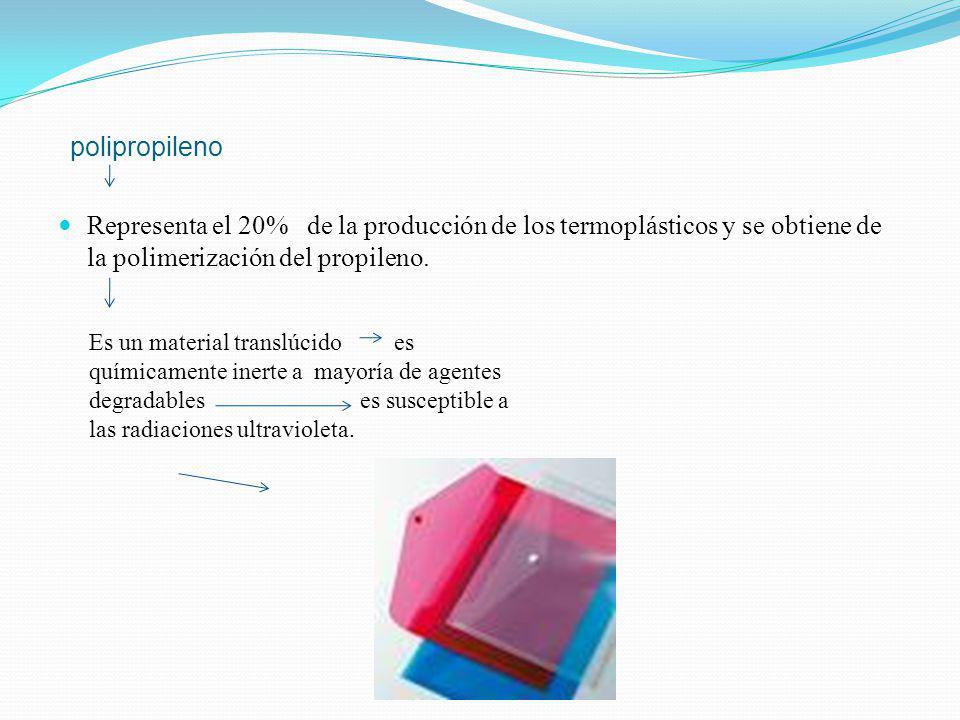 polietileno es químicamente el polímero más simple. Se representa con su unidad repetitiva (CH 2 - CH 2 ) n. Por su alta producción mundial (aproximad
