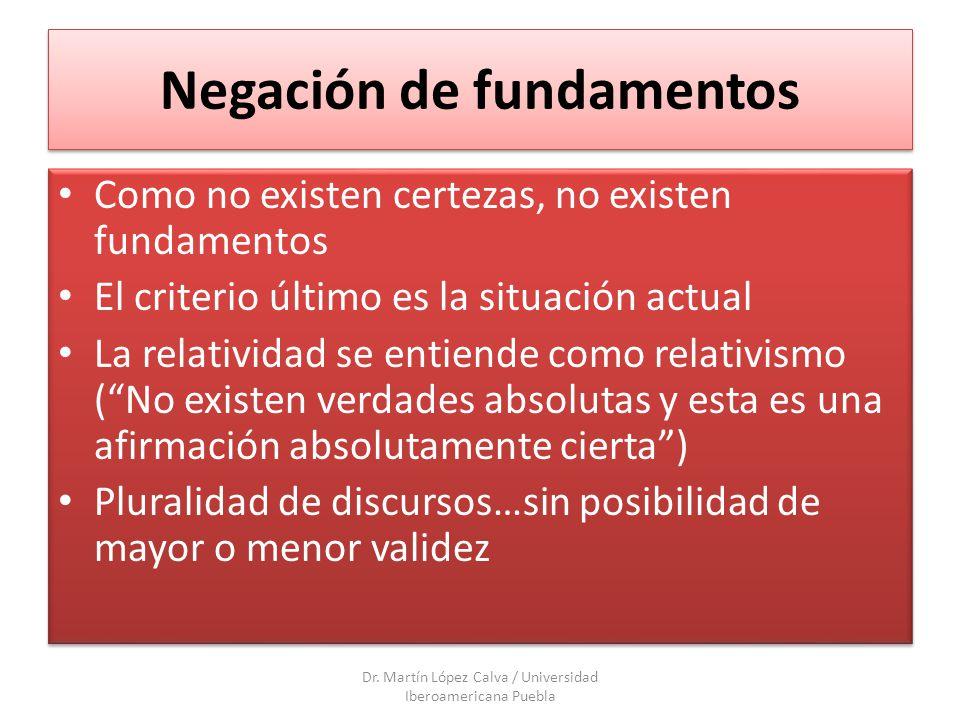 El modelo sin modelo La búsqueda de fundamentos relativos desde un fundamento fundante pero dinámico Dr.