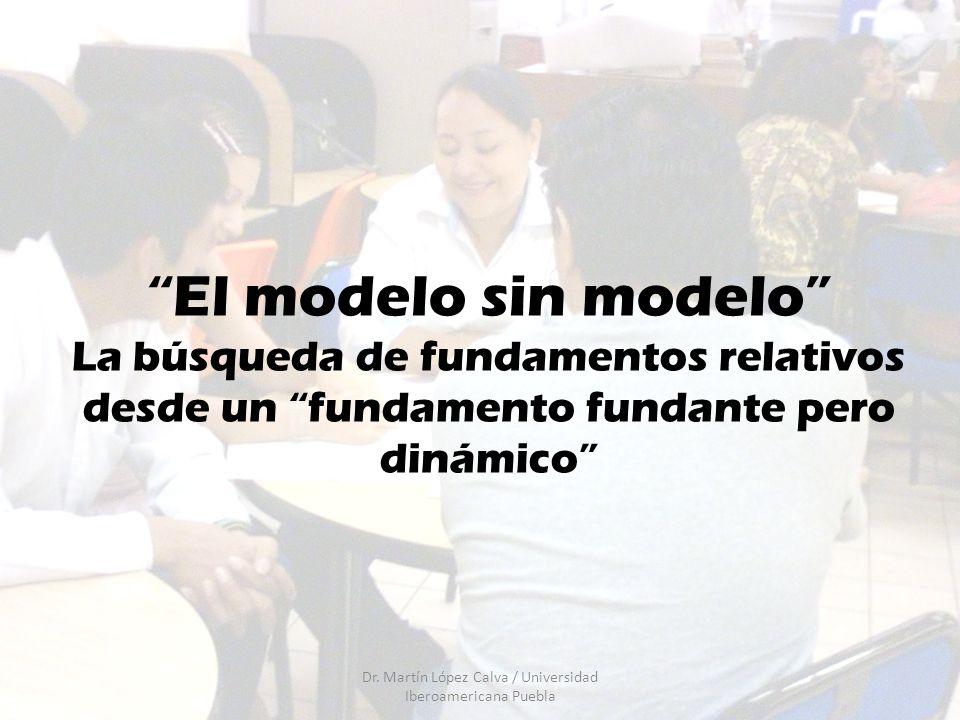 El modelo sin modelo La búsqueda de fundamentos relativos desde un fundamento fundante pero dinámico Dr. Martín López Calva / Universidad Iberoamerica