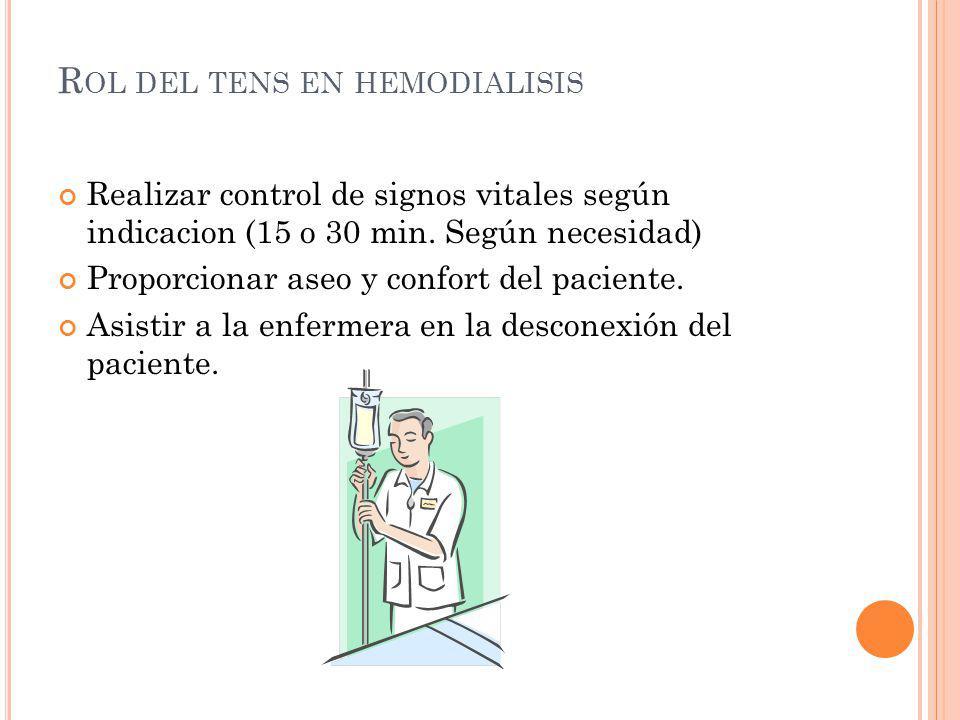 Realizar control de signos vitales según indicacion (15 o 30 min. Según necesidad) Proporcionar aseo y confort del paciente. Asistir a la enfermera en