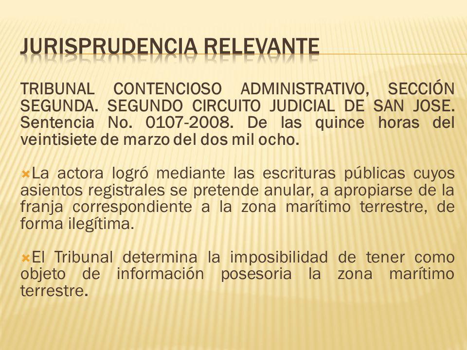 TRIBUNAL CONTENCIOSO ADMINISTRATIVO, SECCIÓN SEGUNDA. SEGUNDO CIRCUITO JUDICIAL DE SAN JOSE. Sentencia No. 0107-2008. De las quince horas del veintisi