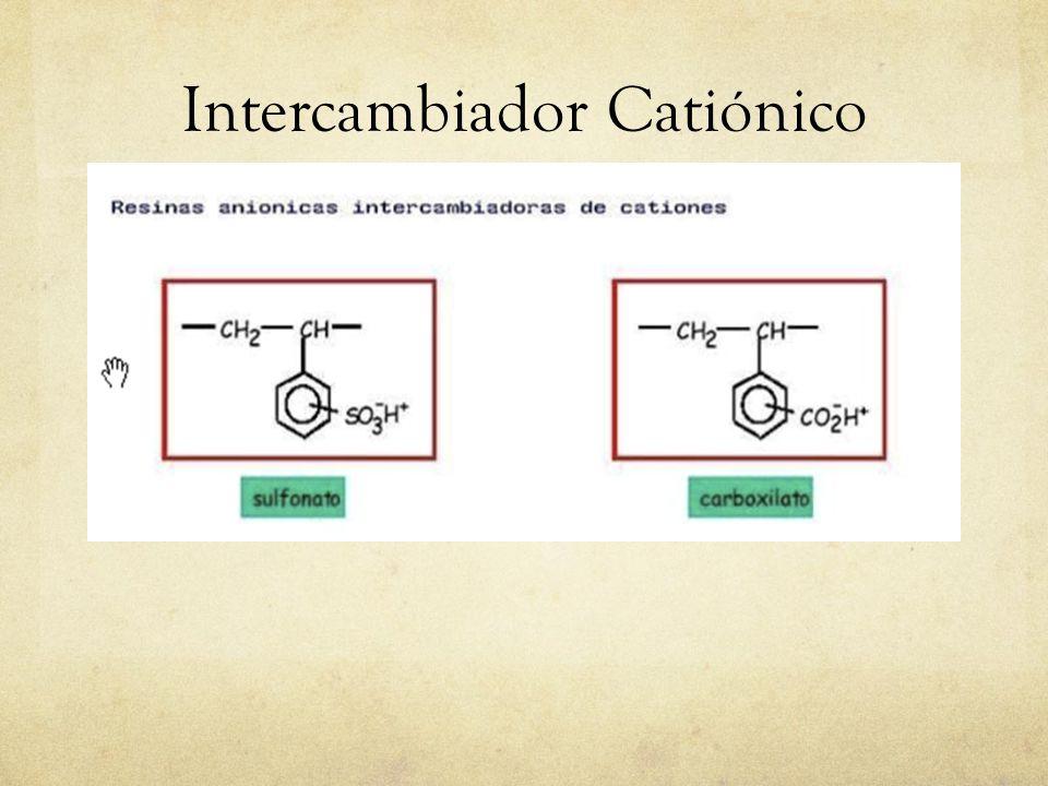 Intercambiadores Aniónicos Los intercambiadores aniónicos contienen grupos amino terciario o amino primario ; los primeros son bases fuertes y los últimos bases débiles.