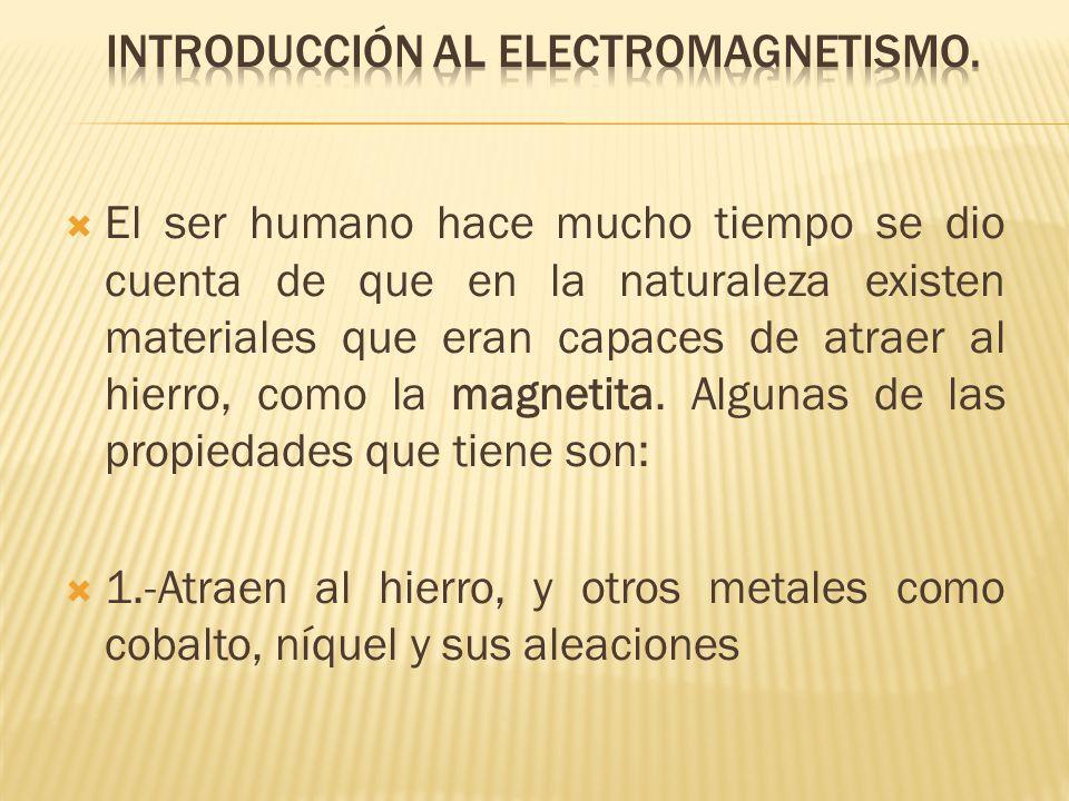 El ser humano hace mucho tiempo se dio cuenta de que en la naturaleza existen materiales que eran capaces de atraer al hierro, como la magnetita.