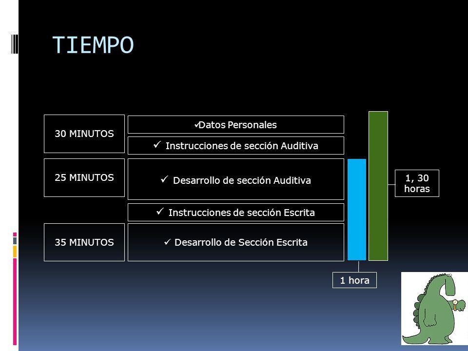 Competencias relacionadas con la comunicación oral & auditiva Competencias relacionadas con la lecto – escritura ESCUCHAR HABLAR LEER ESCRIBIR ¿Qué mide el TOEIC Bridge?