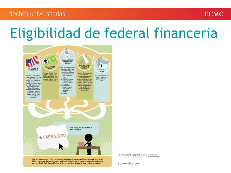 Eligibilidad de federal financeria