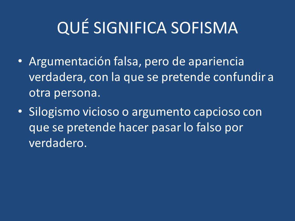Ejemplo Se comenten cuando dos términos frases o construcciones gramaticales cambian de significado oposición en el transcurso del razonamiento.