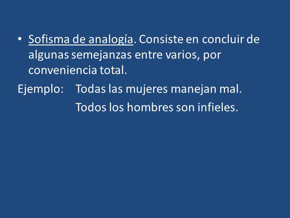 Sofisma : Esto quiere decir que partimos de premisas CORRECTAMENTE FORMULADAS (verdaderas o falsas) para llegar a una conclusión ABSURDA.