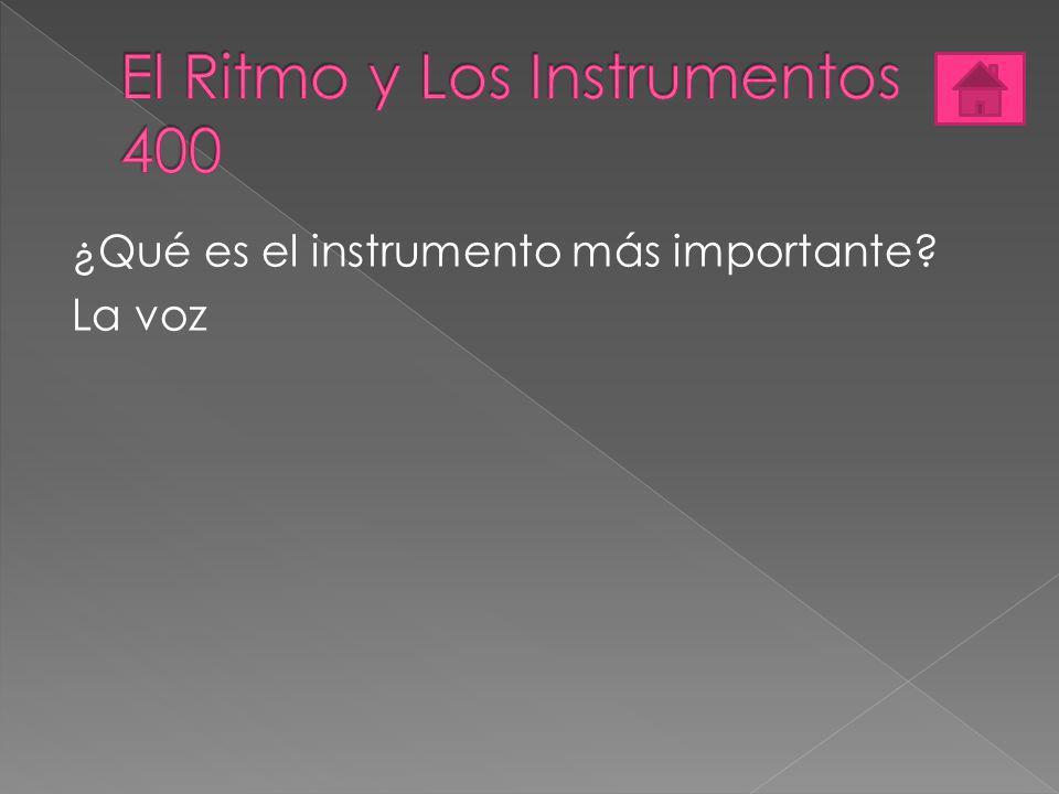 ¿Qué es el instrumento más importante? La voz