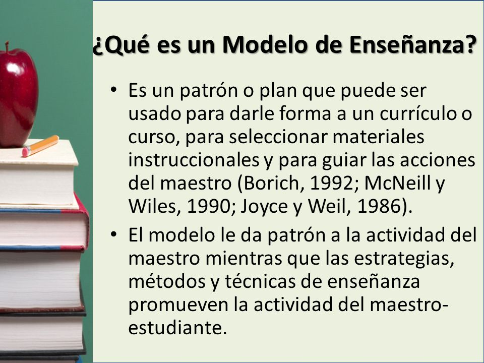 Base para seleccionar un modelo de enseñanza El modelo que seleccione el maestro debe ser evaluado cuidadosamente a base de la realidad que quiere crear el estudiante; sus parámetros deben ser la lógica, los conocimientos y los valores sociales.