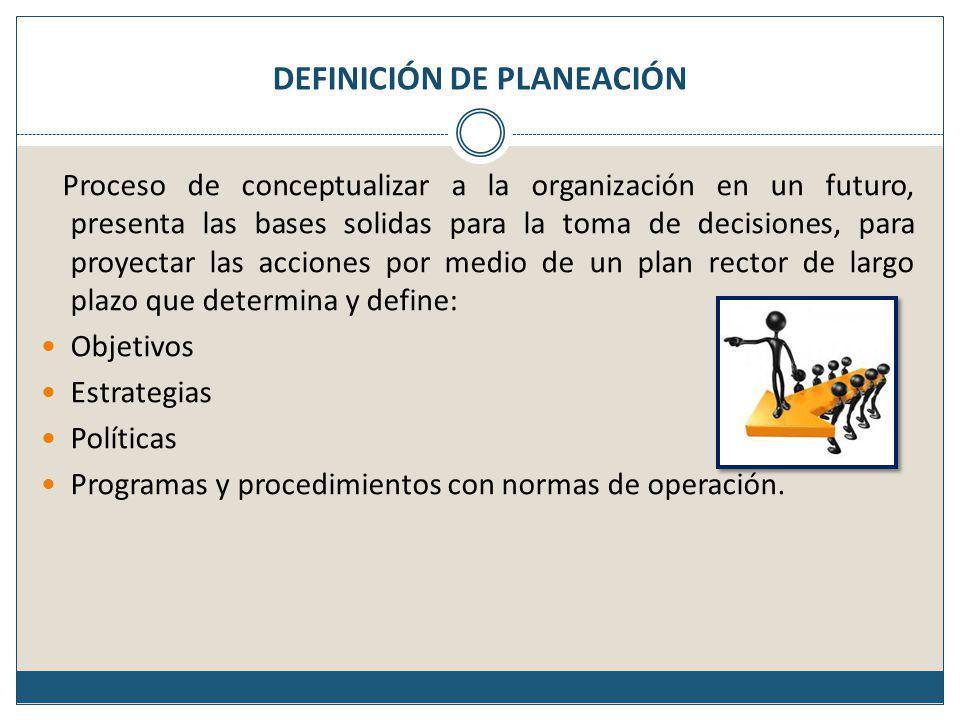 Objetivos de largo plazo (Estratégicos) Son objetivos a nivel de la organización, sirven para definir el rumbo de la empresa.