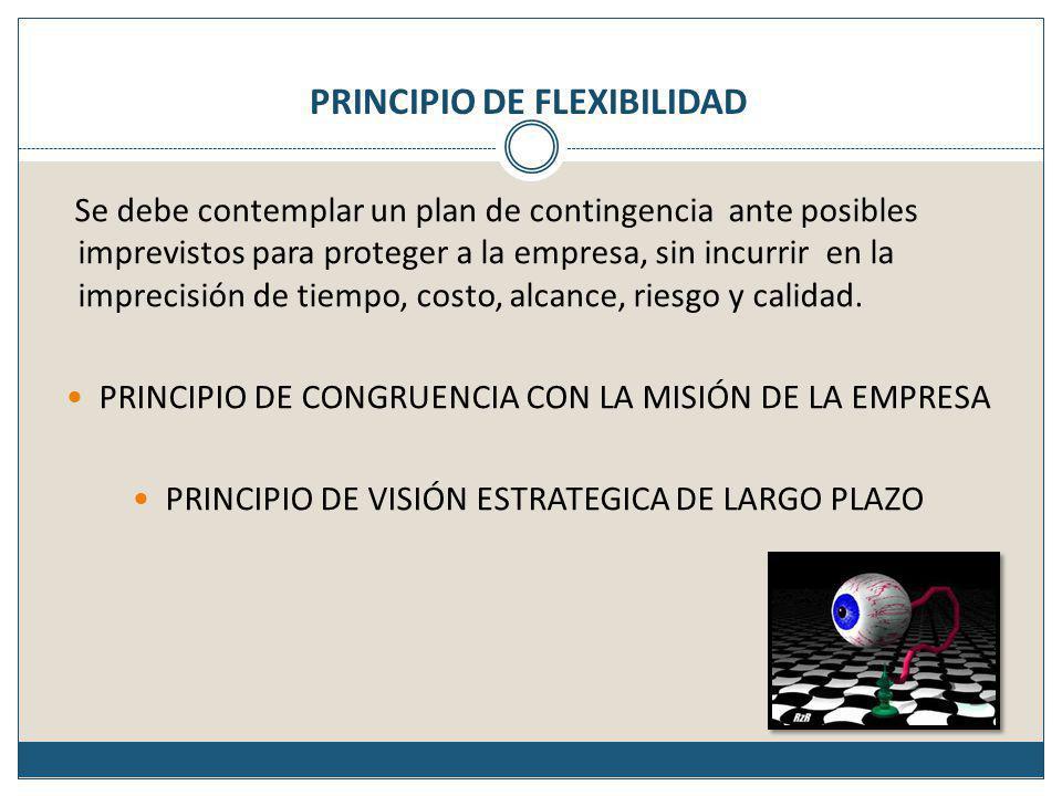 Planes rectores o estratégicos Estrategia de largo alcance Táctica de mediano alcance Operación de uso diario Planes Alternos______Planes de contingencia