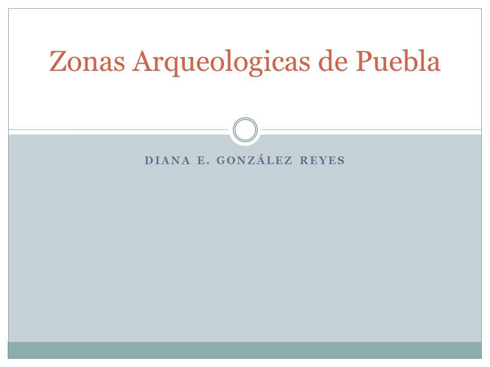 DIANA E. GONZÁLEZ REYES Zonas Arqueologicas de Puebla